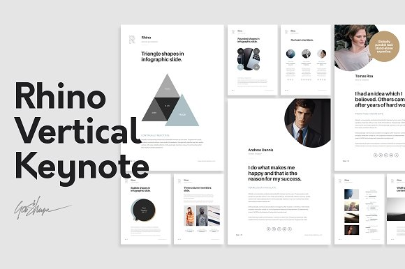 Rhino Vertical Keynote Template Presentation Templates - Keynote brochure template