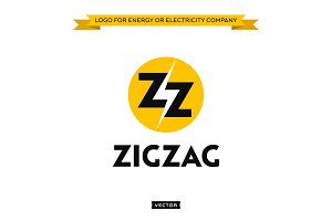 Logo for electricity energy company, lightning and two letters Z