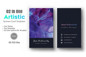 Artistic Business Card Template-012
