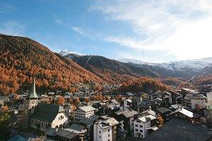View of Zermatt Switzerland