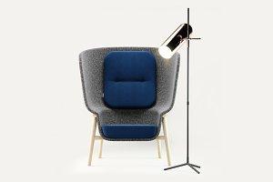DeVorm Pod PET Felt Privacy Chair