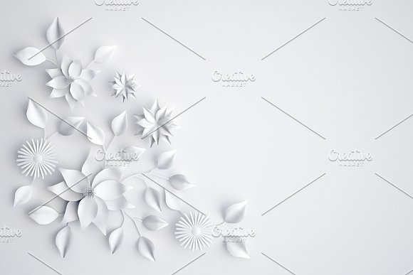 White paper flowers background white paper flowers background mightylinksfo