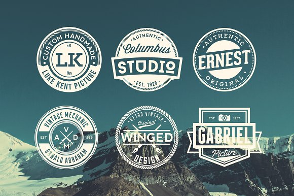 11 Trendy Vintage Badges Volume 3 in Logo Templates - product preview 3