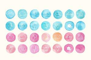 circles social media icons