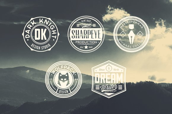 11 Trendy Vintage Badges Volume 3 in Logo Templates - product preview 4