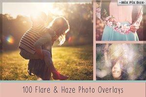 100 Sun Flare & Haze Overlays
