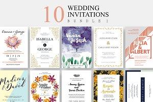 10 Wedding Invitations - Bundle 1