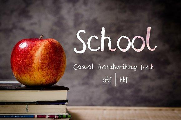 School Casual Handwriting Font