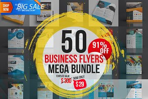 50 Flyer Template Mega Bundle
