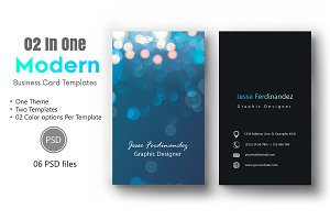 Modern Business Card Template-012A