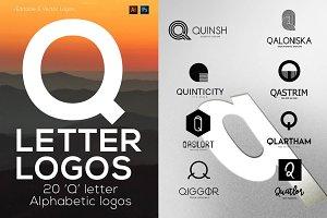 "20 ""Q"" Letter Alphabetic Logos"
