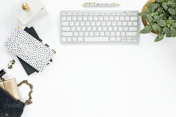 Greenery Styled Desktop Styled Stock