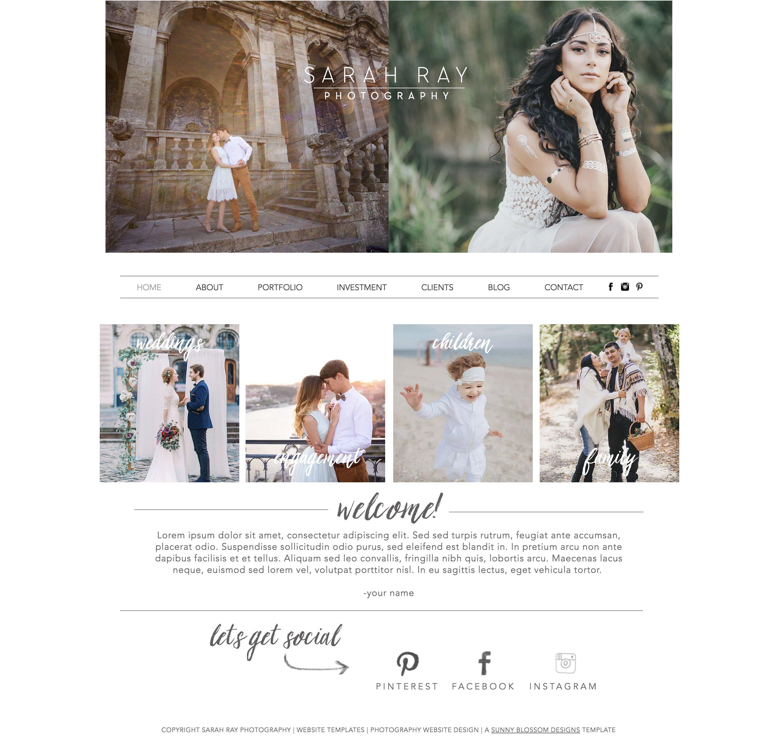 Studio Lighting Website: Photography Wix Website Template