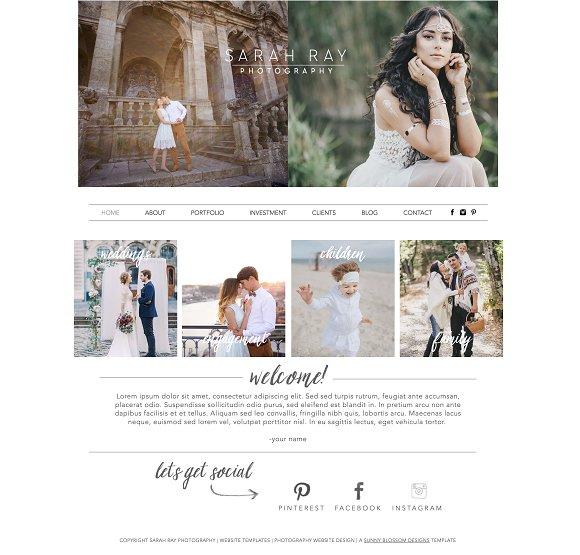 Photography Wix Website Template ~ Website Templates ~ Creative Market