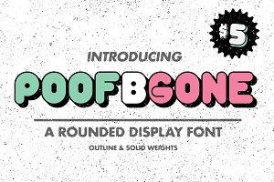 Poof B Gone Font