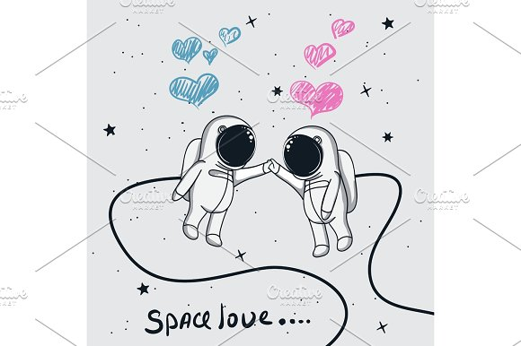 Love Of Astronauts Boy And Girl