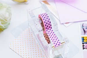 Tape Dispenser and Washi Tape Photo