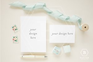 Styled Invitation + RSVP Mockup