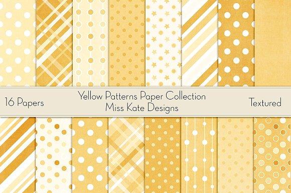 Yellow Digital Paper Pack
