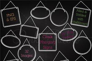 Chalkboard Hanging Frames Clipart