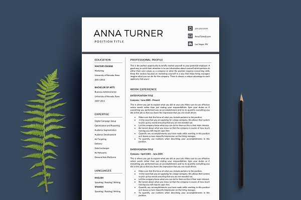 Resume 4 Page   A4 + US Letter
