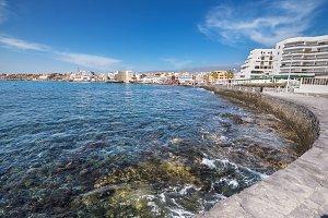 El Medano shoreline, in Tenerife