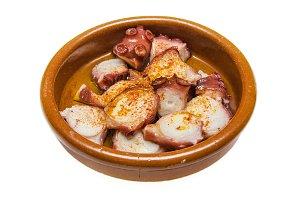 Octopus Spanish tapa.