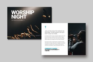 Worship Night Postcard