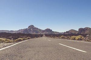 Volcano Road Tenerife