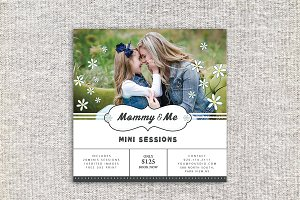 Mommy & Me Mini Sessions Template