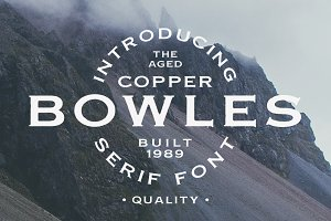 Copper Bowles - Rough Serif Font