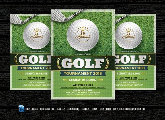 Golf Flyer Flyer Templates Creative Market