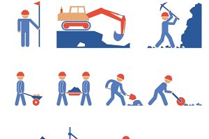 Earthwork & Road Construction Icons