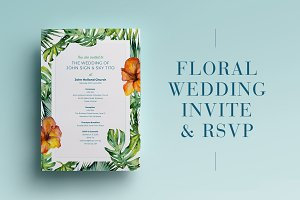 Floral Wedding Invite & RSVP