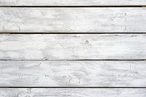 Background or texture, white rough boards