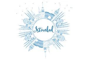 Outline Istanbul Skyline
