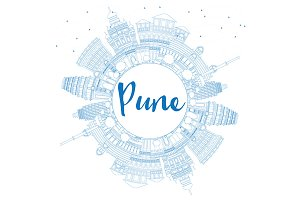 Outline Pune Skyline
