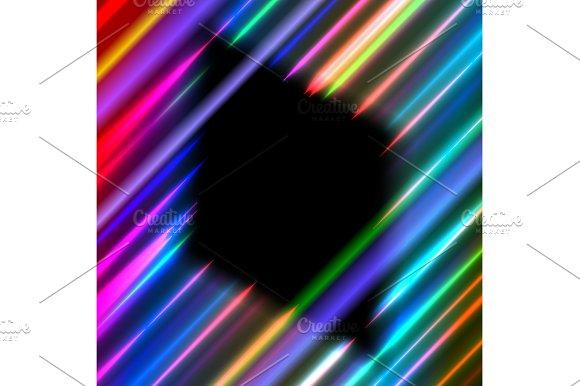 Diamond Frame In Neon Rays