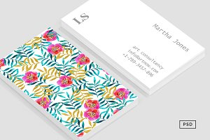 Floral II Business Card Template