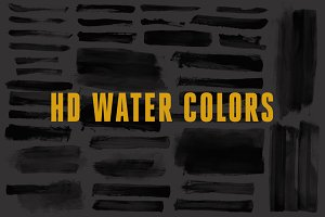 HD Water Color Strokes