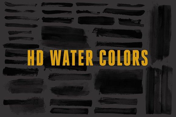 HD Water Color Strokes