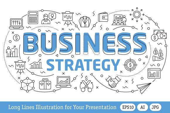 illustration business strategy graphics creative market