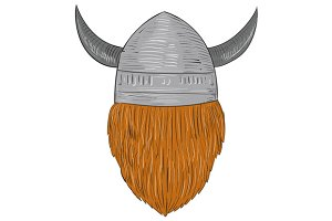 Viking Warrior Head Rear View