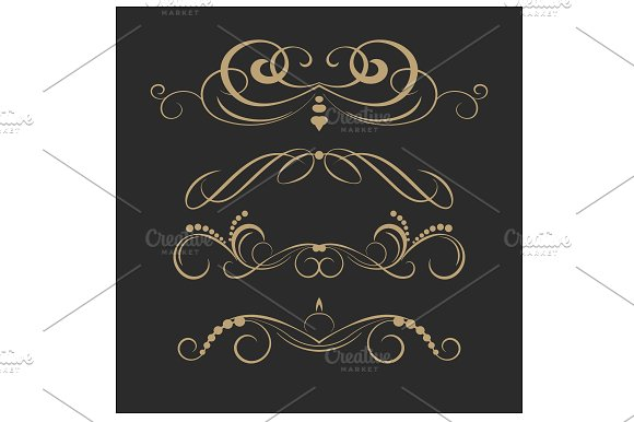 Vintage Elements For Invitations