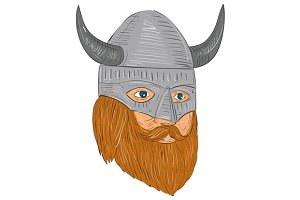 Viking Warrior Head Three Quarter V