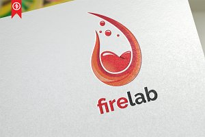 Firelab / laboratory - Logo Template