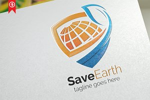 Save Earth - Logo Template