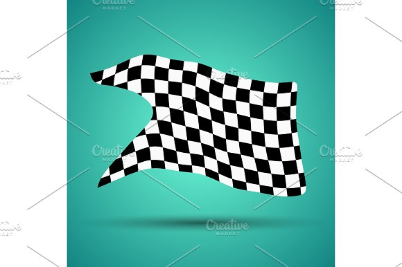 Racing Background With Checkered Flag Vector Illustration EPS10