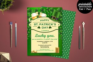 St Patrick Invitation Template