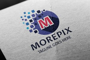 Morepix (Letter M) Logo